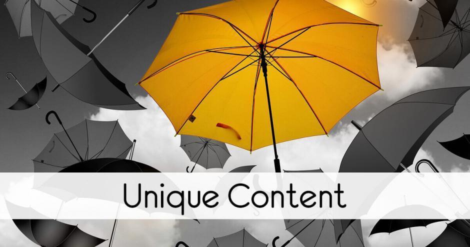 Unique Content im Marketing