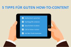 5 Tipps für guten How-to-Content