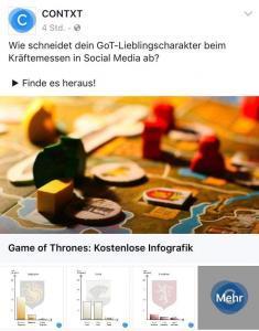 Game of Thrones Infografik zum Thema Social Media