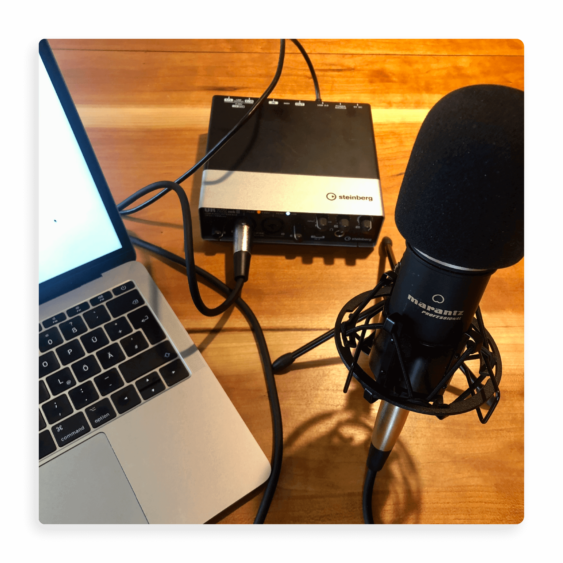 Aufnahme-Setup