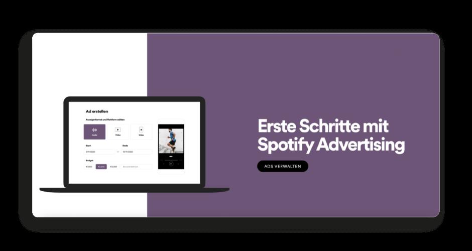 Spotify Ads Erste Schritte